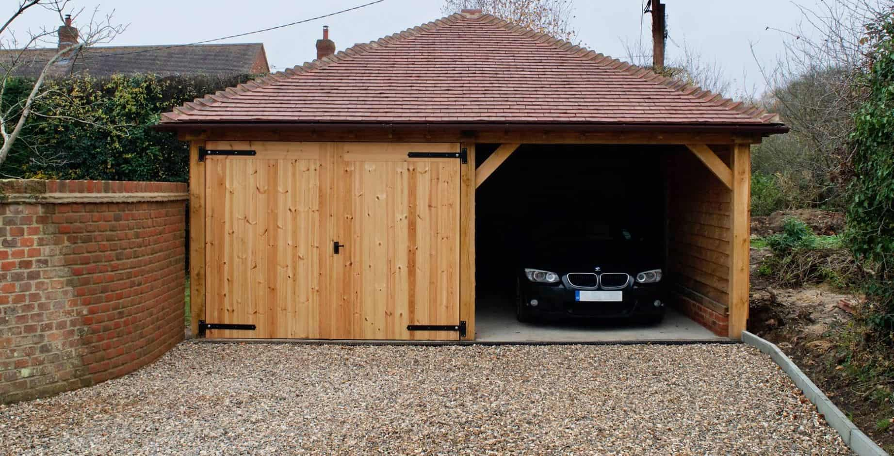 Oak Framed Garage For A Project At A Home In Oxfordshire