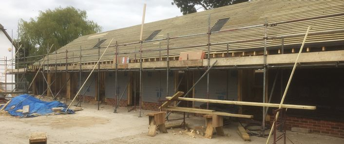 Oak roof project in Oxfordshire
