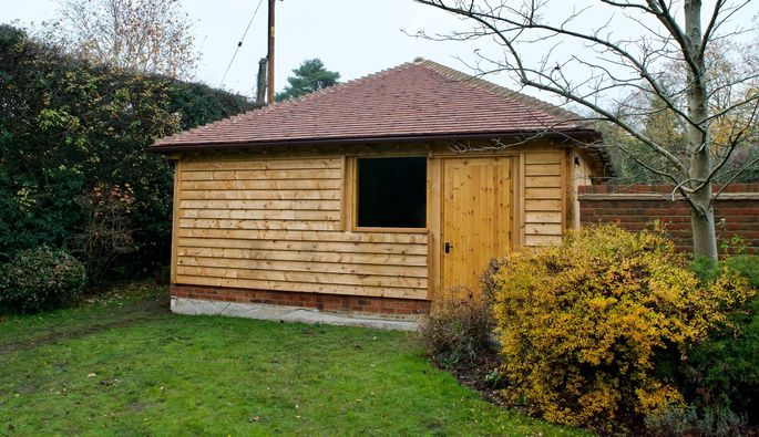 Oak Double Garage Oxford