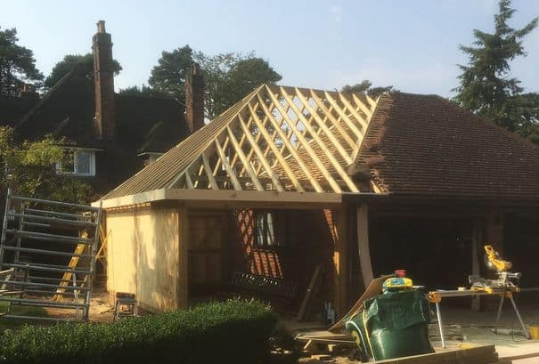 Timber Framed Extension for a project in Oxfordshire